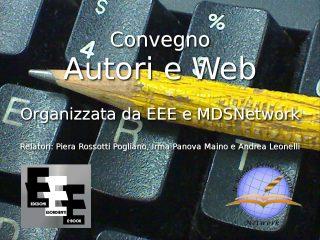 convegno autori e web